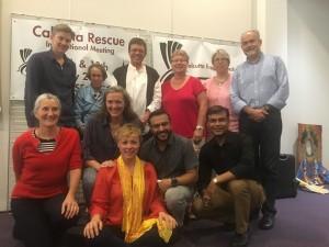 Les membres des bureaux Calcutta Espoir France et Strasbourg avec l'équipe Calcutta Rescue
