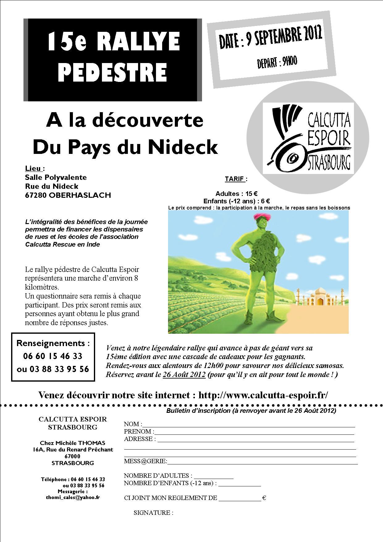 RALLYE 2012 - 15e Rallye Pédestre